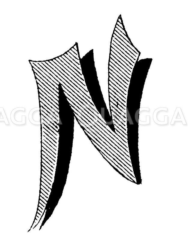 Buchstabe N