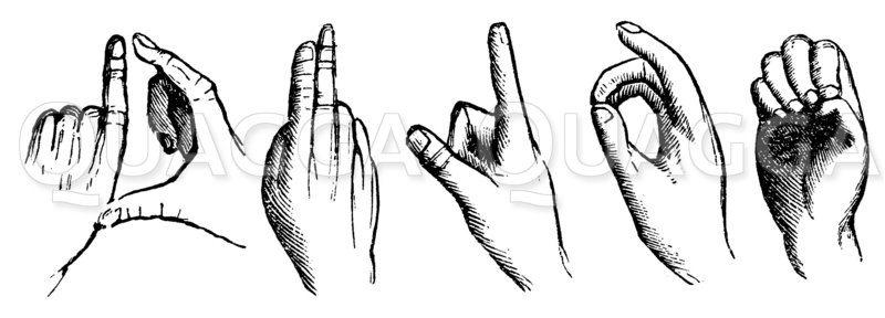 Fingersprache Zeichnung/Illustration