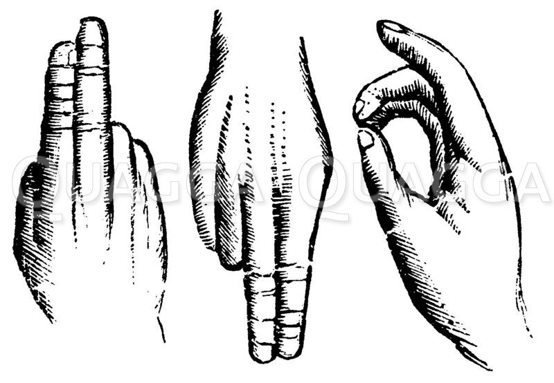 Fingersprache Zeichnung/Illustration