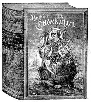Verlagswerbung für das Buch der Erfindungen Zeichnung/Illustration