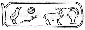 Hieroglyphen Zeichnung/Illustration