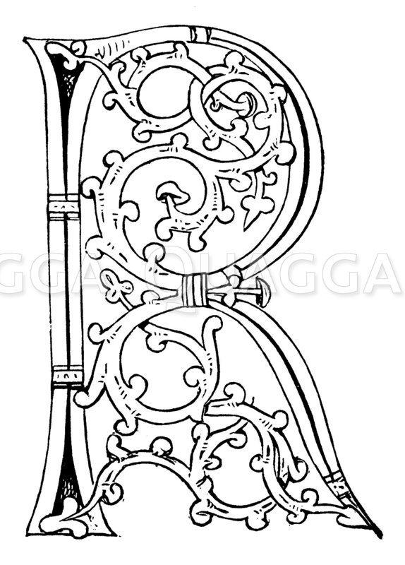 Buchstabe R Zeichnung/Illustration