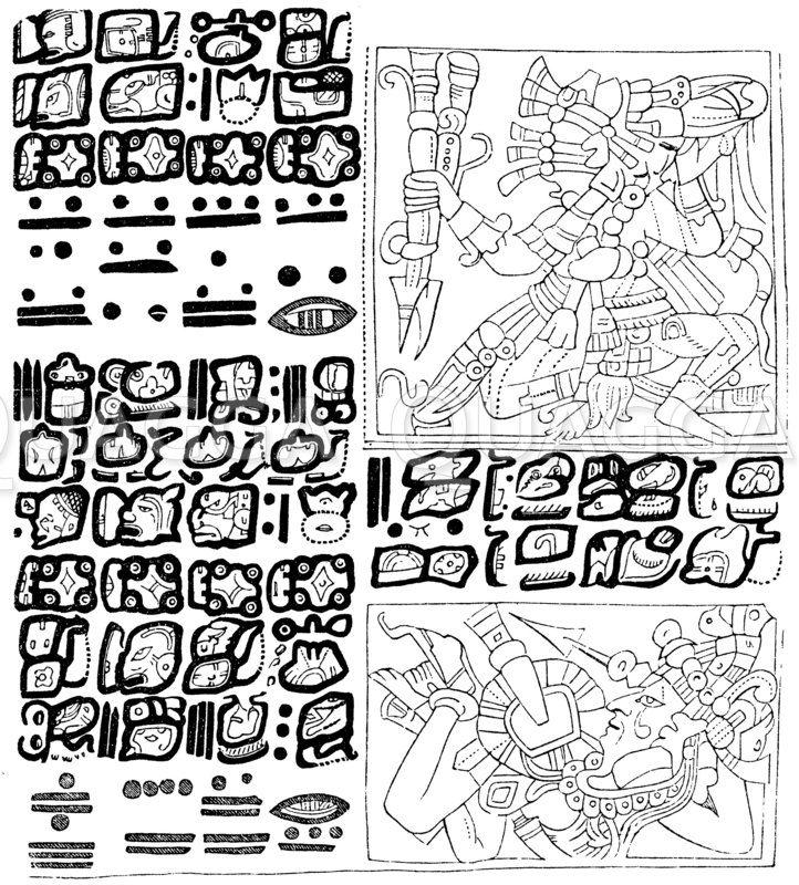 Fragment einer mexikanischen Schrift Zeichnung/Illustration