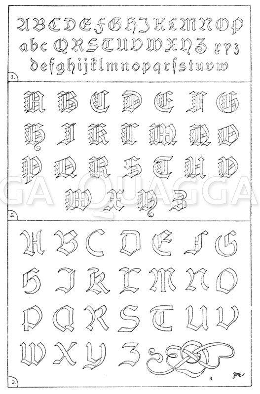 Frakturen 19. Jahrhundert: 1. Alphabet in Frakturschrift