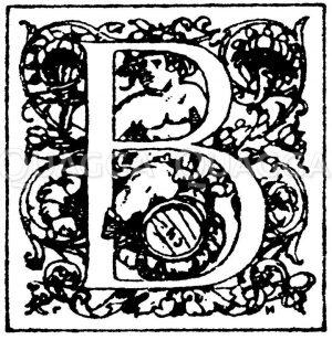 Lateinische Renaissanceschrift: Buchstabe B. Initial von Dir. C. Hammer