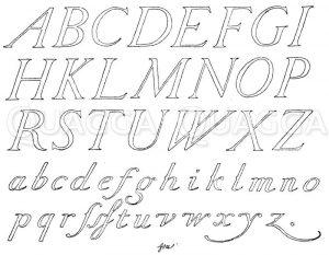 Lateinische Schriften: Renaissancekursivschrift nach Gottlieb Münch