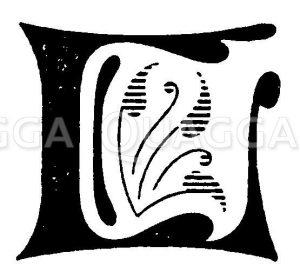 Buchstabe L Zeichnung/Illustration