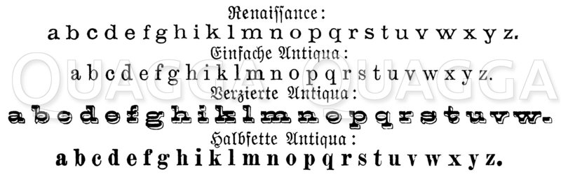 Schriftarten: Renaissance