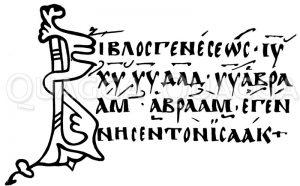 Faksimile aus dem Evangelistarium Carpentoractense. Nach Tischendorf Zeichnung/Illustration