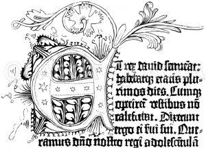 Faksimile aus der zweiundvierzigzeiligen Bibel Zeichnung/Illustration