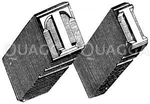 Setzerlettern: Große Buchstaben (Versalbuchstaben) Zeichnung/Illustration