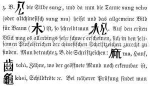 Chinesische Schriftzeichen Zeichnung/Illustration
