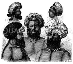 Fidschi- Insulaner Zeichnung/Illustration