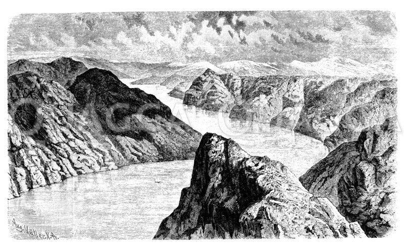 Am Lyster- Fjord Zeichnung/Illustration