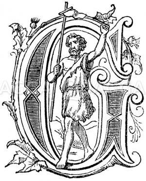 Buchstabe G: religiöses Motiv Zeichnung/Illustration