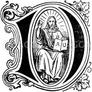 Buchstabe J: religiöses Motiv