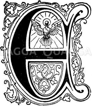 Buchstabe E: religiöses Motiv Zeichnung/Illustration