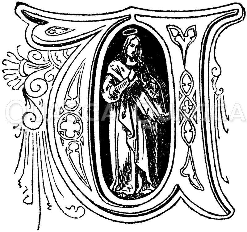 Buchstabe U: religiöses Motiv