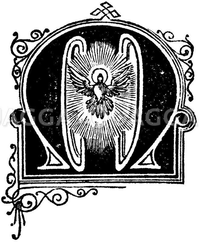 Buchstabe M: religiöses Motiv