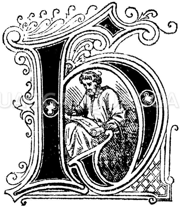 Buchstabe H: religiöses Motiv