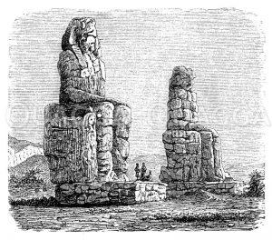 Bildsäulen des Königs Amenhotep III. (Ägypten) Zeichnung/Illustration