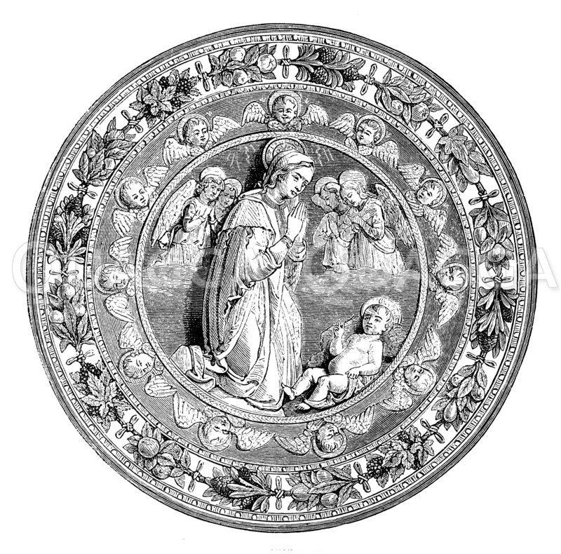 Terrakotte von Luca della Robbia Zeichnung/Illustration