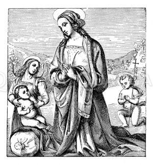 Madonna  von Perugino Zeichnung/Illustration