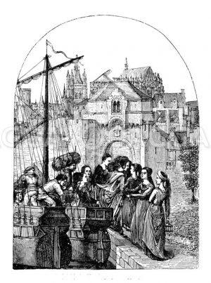Vom Ursulaschrein Memlings zu Brügge Zeichnung/Illustration