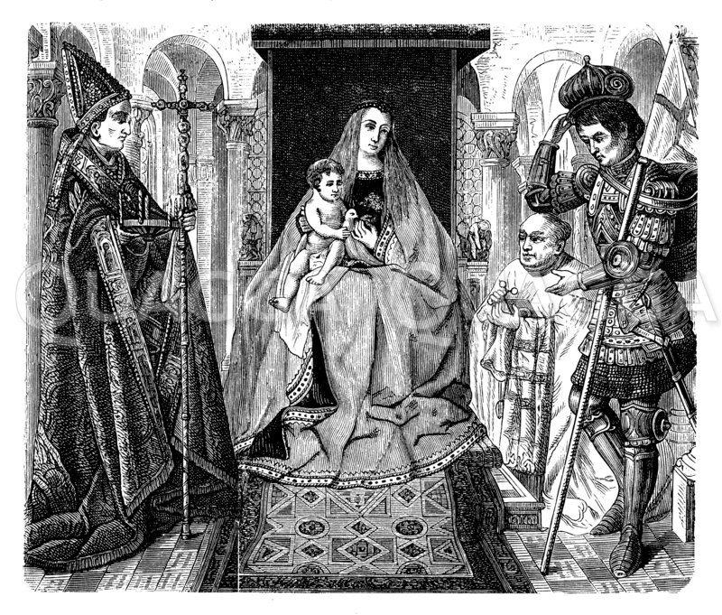 Vom Altar des Kanonikus van der Pael in Brügge Zeichnung/Illustration