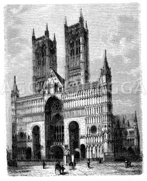 Kathedrale zu Lincoln Zeichnung/Illustration