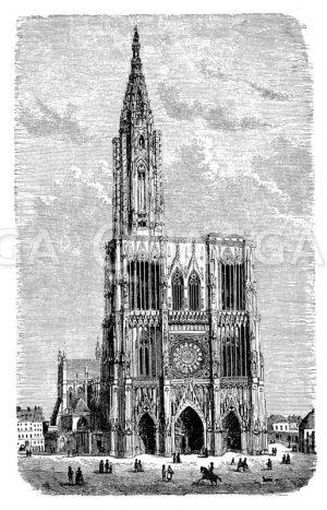 Straßburger Münster Zeichnung/Illustration