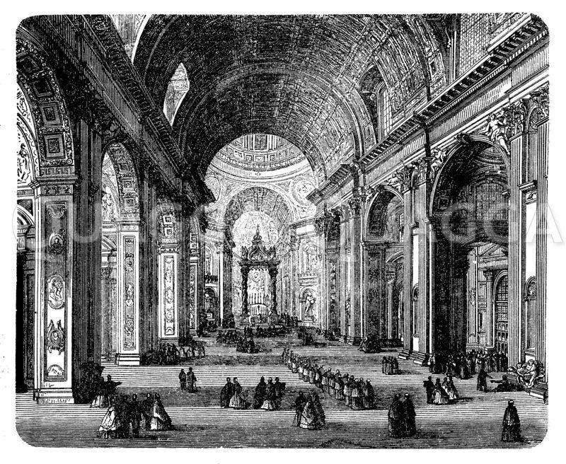 Peterskirche: Innenansicht Zeichnung/Illustration