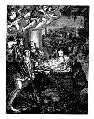 Heilige Nacht von Correggio Zeichnung/Illustration