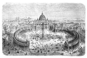 Peterskirche zu Rom Zeichnung/Illustration