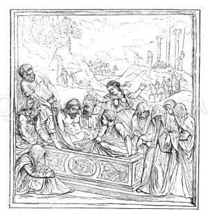 Grablegung Christi. Von Jacopo Sansovino. Sakristeitür von S. Marco Zeichnung/Illustration