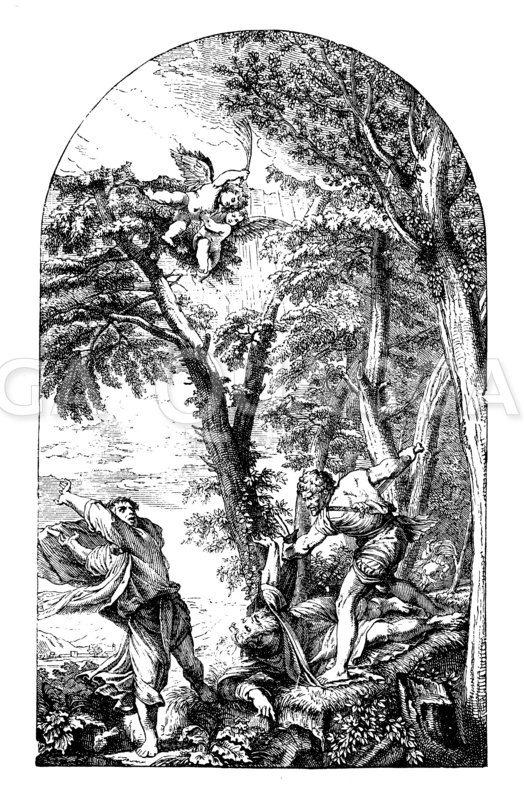 Petrus Martyr. Von Tizian Zeichnung/Illustration