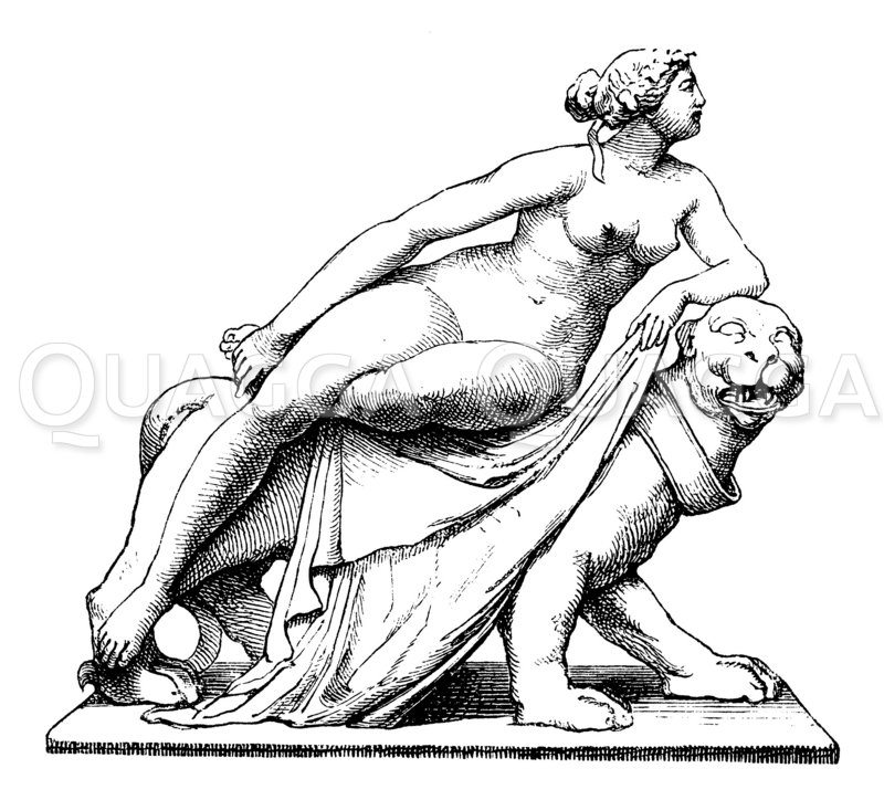 Ariadne auf Naxos. Nach Dannecker Zeichnung/Illustration
