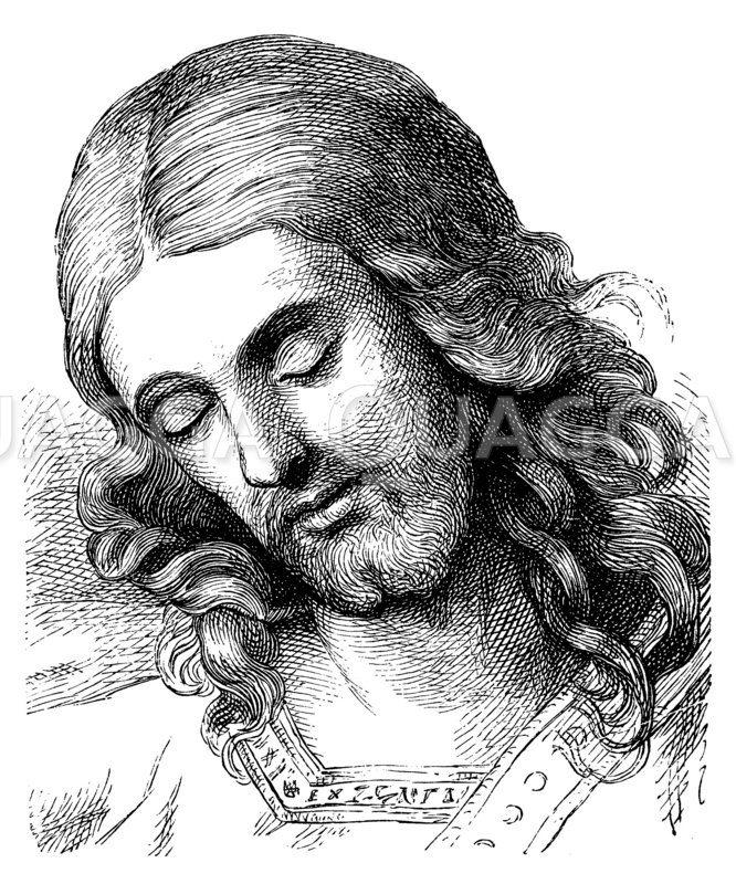 Christus. Von Overbeck Zeichnung/Illustration