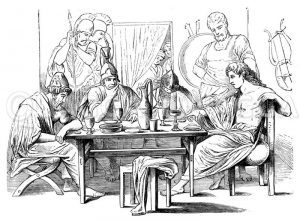 Gesandschaft bei Achilles. Von Carstens Zeichnung/Illustration