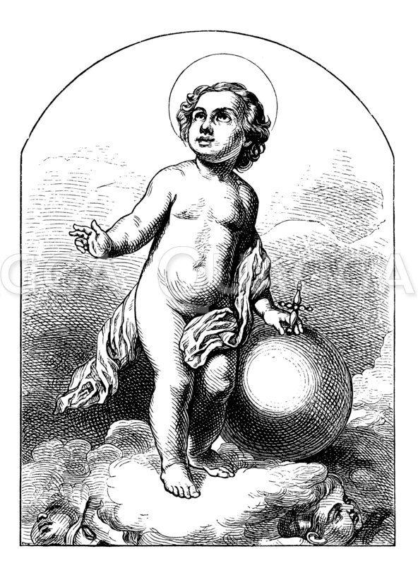 Christuskind. Von Murillo Zeichnung/Illustration