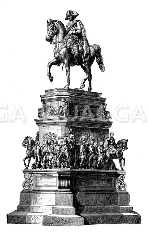Denkmal Friedrichs des Großen. Nach Rauch Zeichnung/Illustration