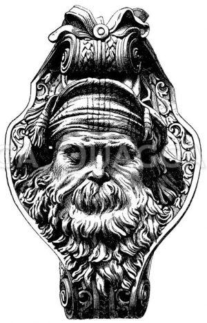 Masken sterbender Krieger Zeichnung/Illustration