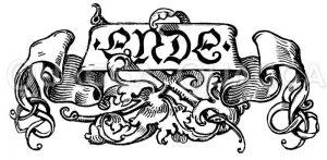 Schriftzug: Ende Zeichnung/Illustration