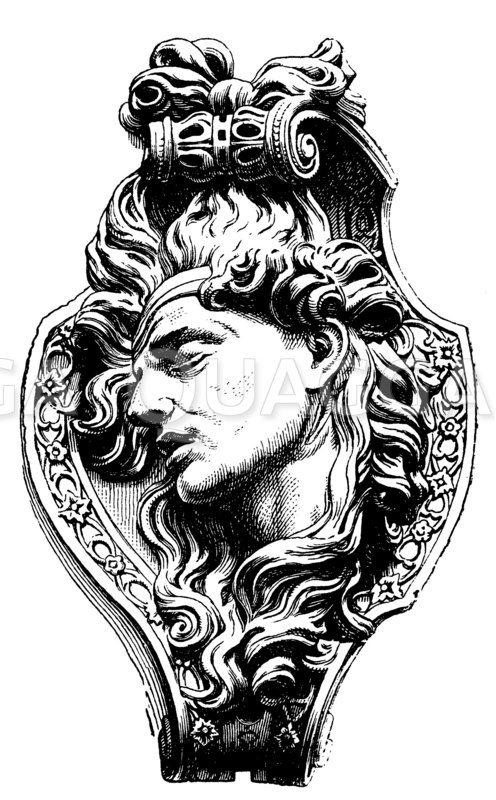 Totenmaske Zeichnung/Illustration