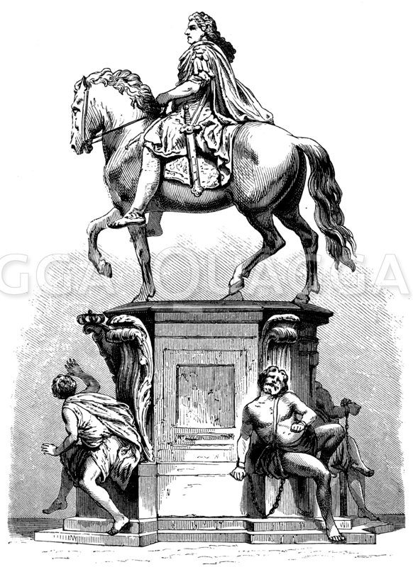 Große Kurfürst. Nach Andreas Schlüter Zeichnung/Illustration