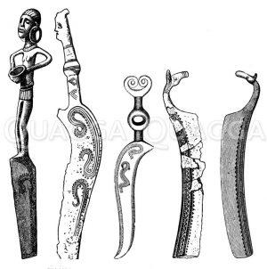 Messer der Bronzezeit Zeichnung/Illustration