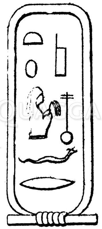 Ägypten. Namensringe. Zeichnung/Illustration