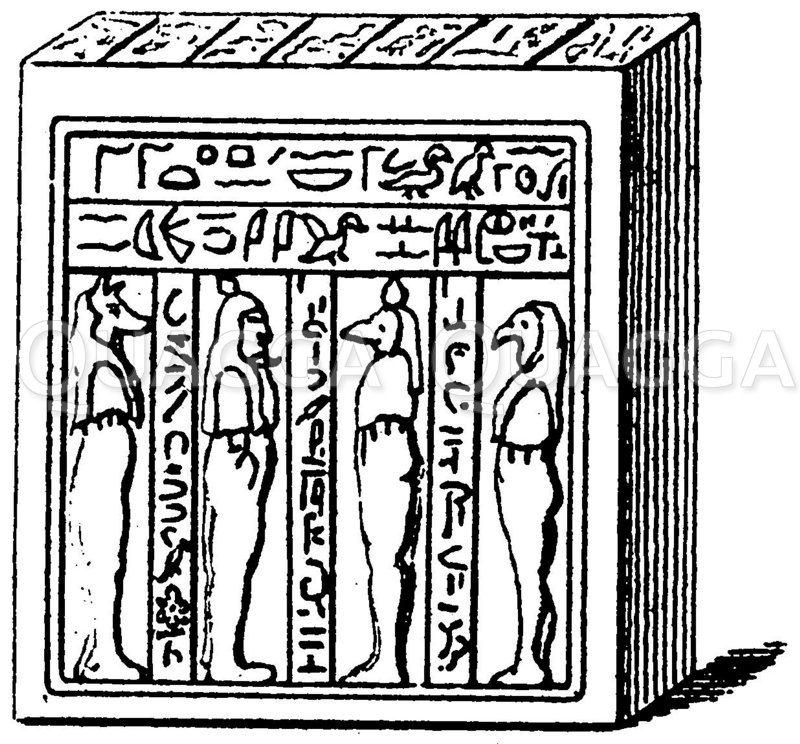 Ägyptischer Totenkasten Zeichnung/Illustration