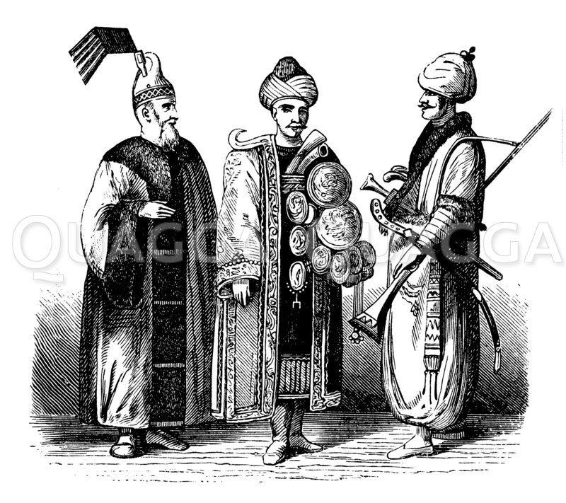 Janitscharen aus dem 18. Jahrhundert (höherer Offizier