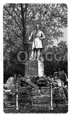 Turnvater Jahns Denkmal in der Hasenheide bei Berlin Zeichnung/Illustration